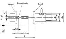 Kuglična navojna vretena - cilindrična matica (s brisačima)